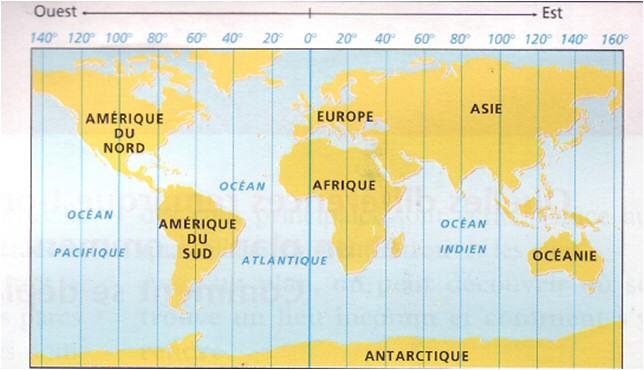 Carte Europe Avec Meridiens.Les Paralleles Et Les Meridiens Lili La Mouette